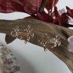 Chesapeake Blue Crab Post Earrings, 14kt Solid Gold 1/2″
