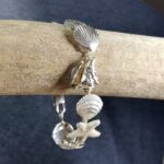 Scallop Conch & Sand Dollar Bracelet Sterling Silver 7-8 inch