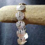 Sand Dollar Bracelet Sterling Silver sizes 7-8 inch