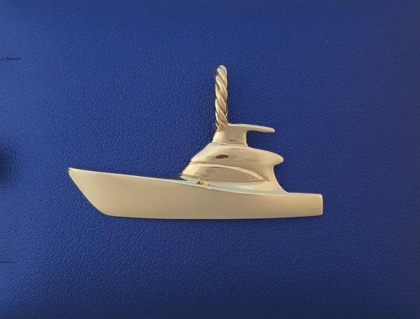 Gold Sport Fishing boat pendant