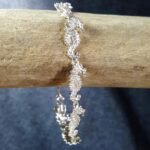 Seahorse Bracelet Sterling Silver sizes 7-8 inch