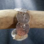 Sand Dollar Cuff Sterling Silver sizes 7-8 inch