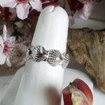 Scallop Band Ring 5mm Sterling Silver sizes 5-9