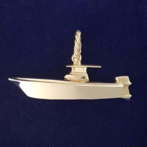 Gold Center Console fishing boat Pendant
