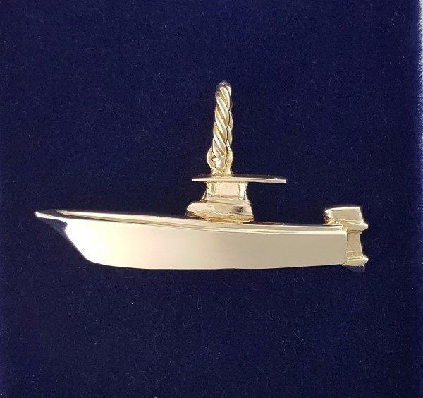 Gold Center Console fishing boat Pendant